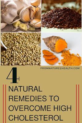 Coriander to Overcome High Cholesterol, Flaxseed to Overcome High Cholesterol, Garlic to Overcome High Cholesterol, Turmeric to Overcome High Cholesterol