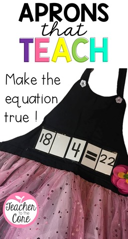 Shoe and Tell aprons help me teach skills in an exciting way