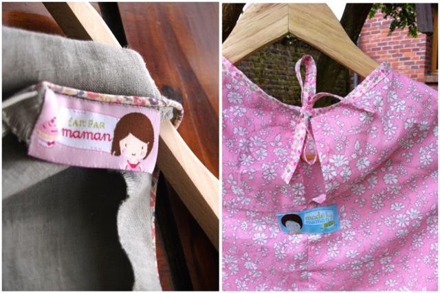 Étiquettes pour couture