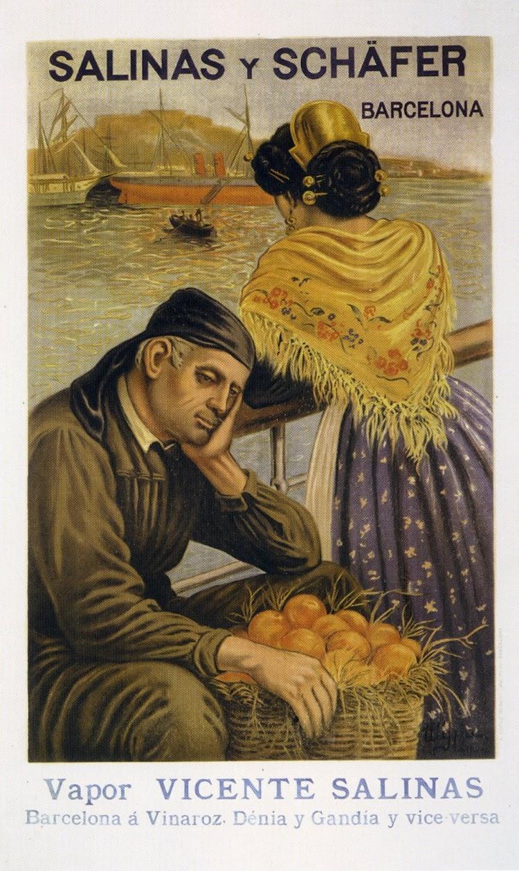 El primer cartel litográfico realizado por una imprenta española en la colección de Andres Diego se remonta a 1905. Del libro Gijón Trasatlantico.jpg