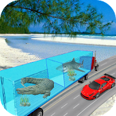 Sea Animals Truck transport and Cargo Driver