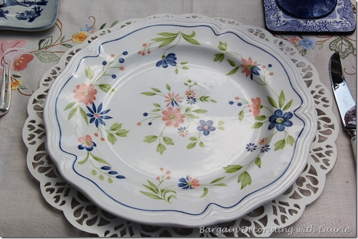Blue and Pink Dinner Plate