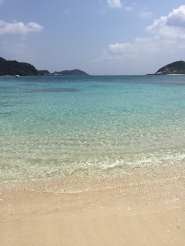 The crystal waters of Tokashiki are amazing for swimming and snorkelling