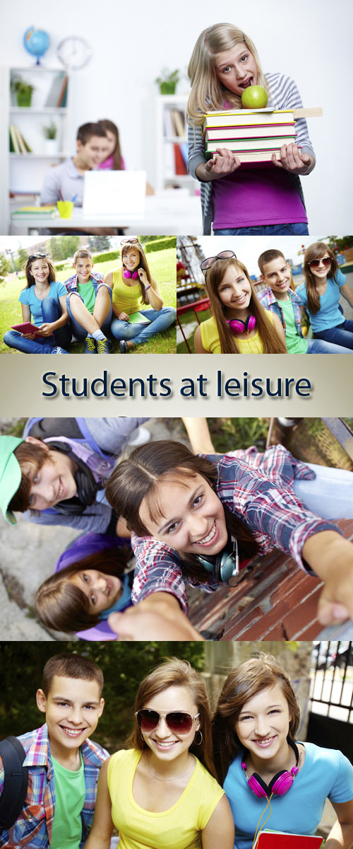 Stock Photo: Students at leisure