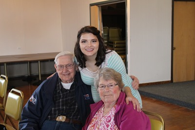 Maddie and her Great Grandparents