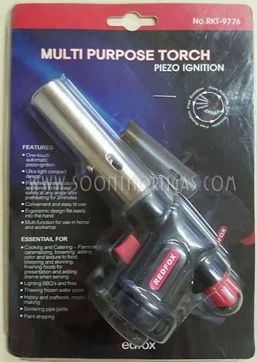 หัวพ่นไฟ REDFOX รุ่น RKT-9776 (AUTO GAS TORCH)