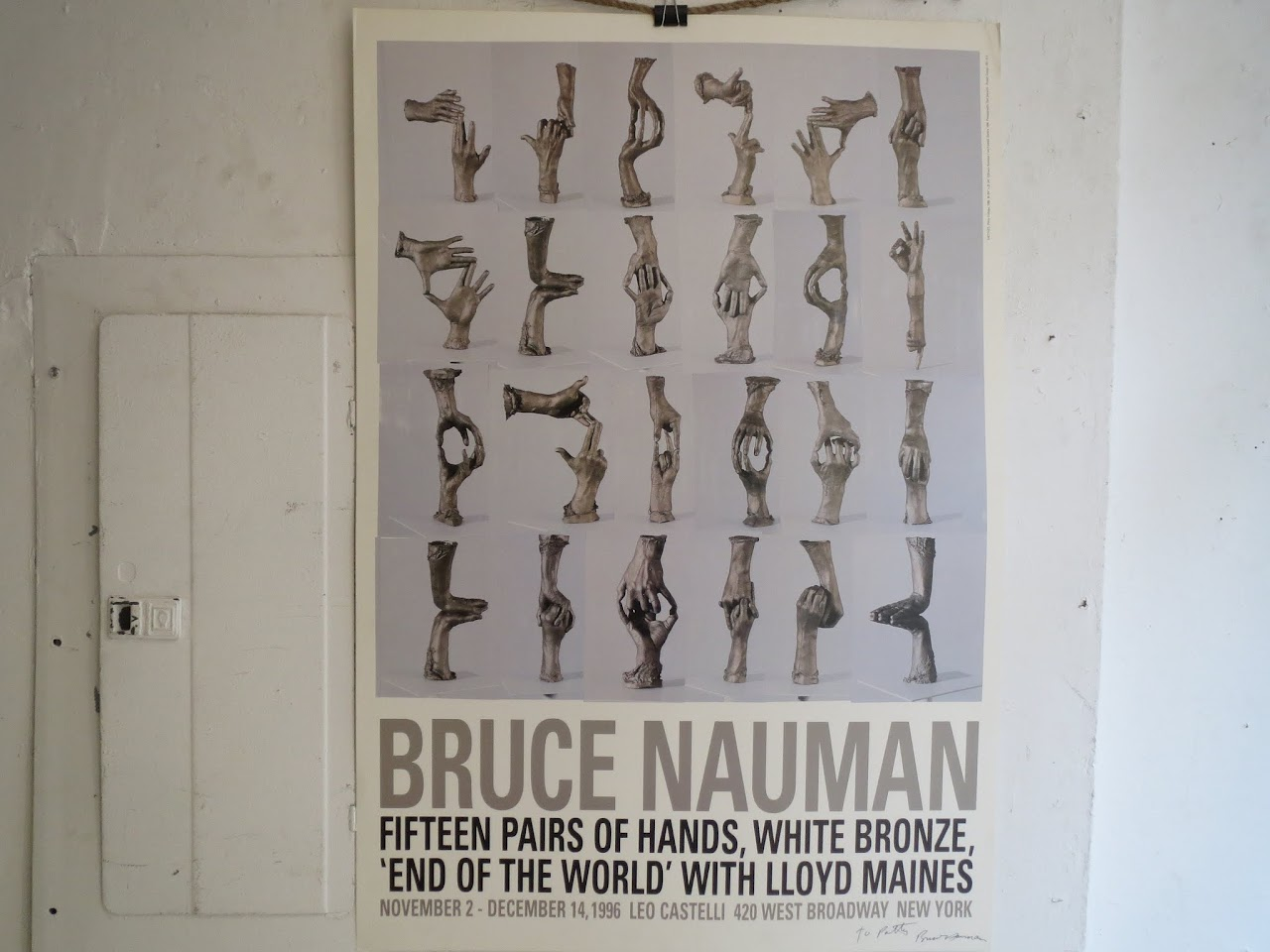 Bruce Nauman Signed Exhibition Poster