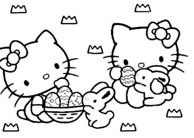 Easter Coloring Pages Hello Kitty To Print