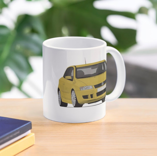 Fiat Stilo customizable two image coffee mugs