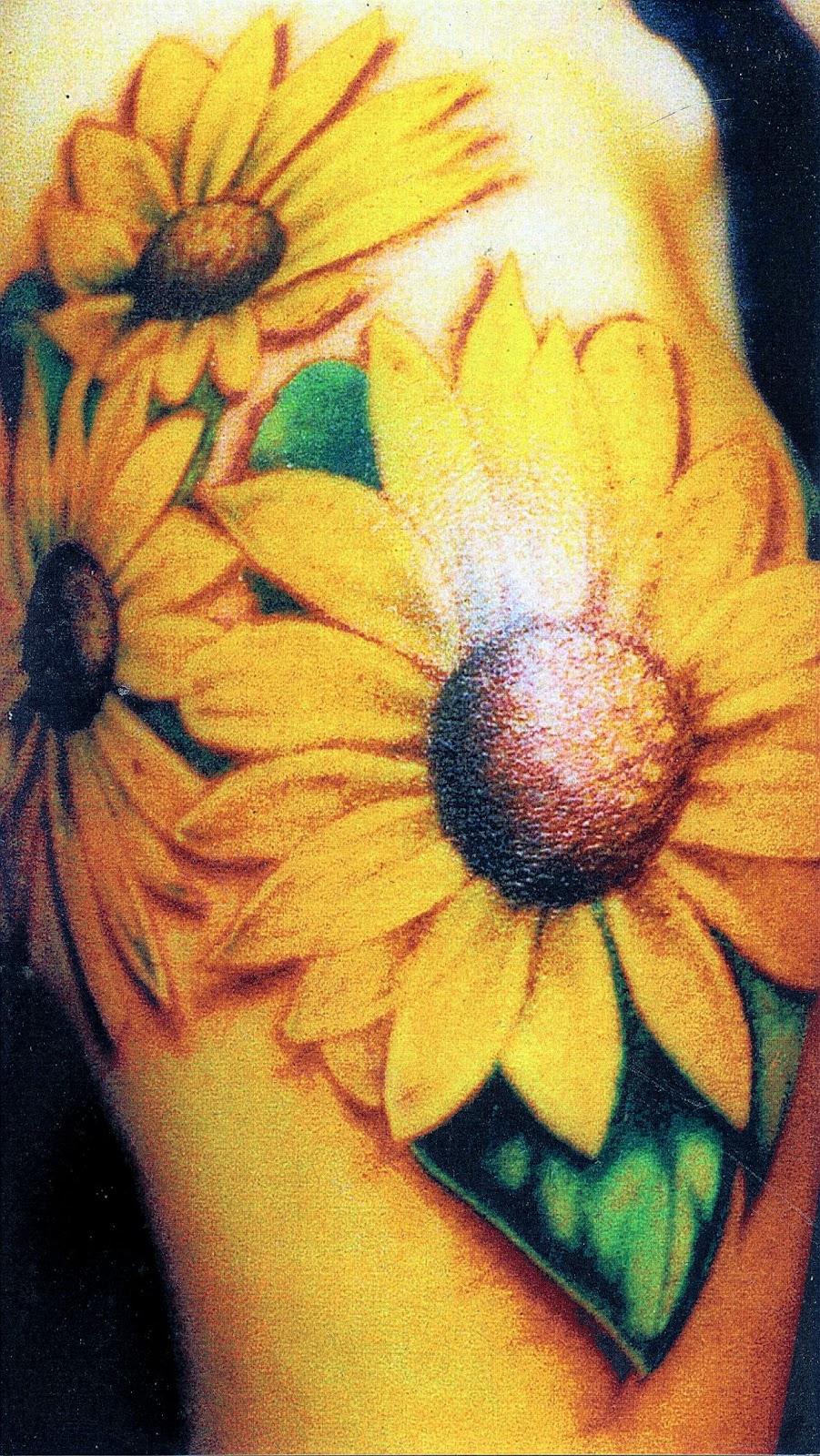 Sunflower Shoulder Tattoo   Interior Home Design