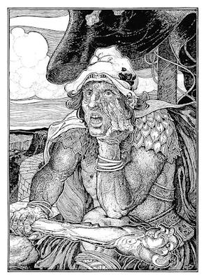 Giant Depair by Luis Rhead - A viking oarsman looks pissed off