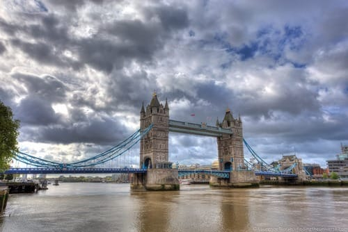 Best Photography locations London Tower bridge and river Thames