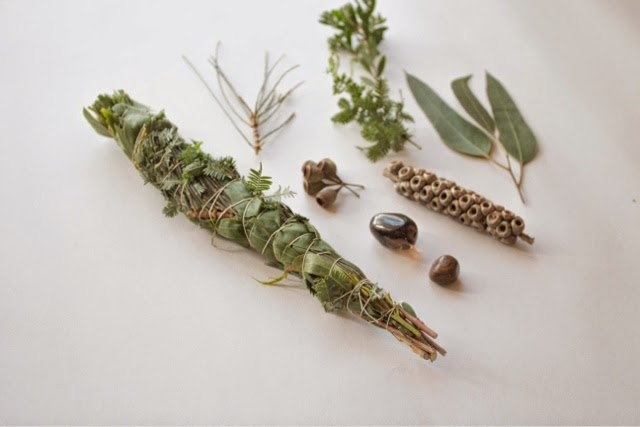 Wild harvest Australian native smudge sticks by Belinda Evans of Alchemy