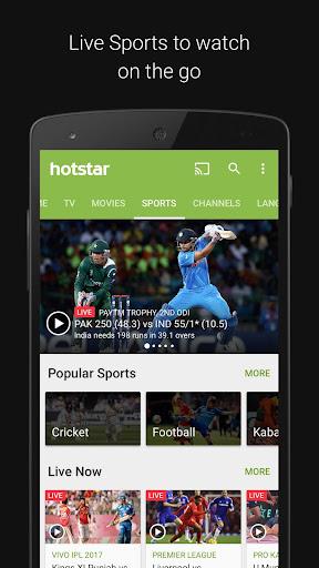 Hotstar TV Movies Live Cricket screenshot 2
