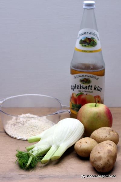 Zutaten Fenchel-Hirse-Brei mit Apfel und Kartoffeln