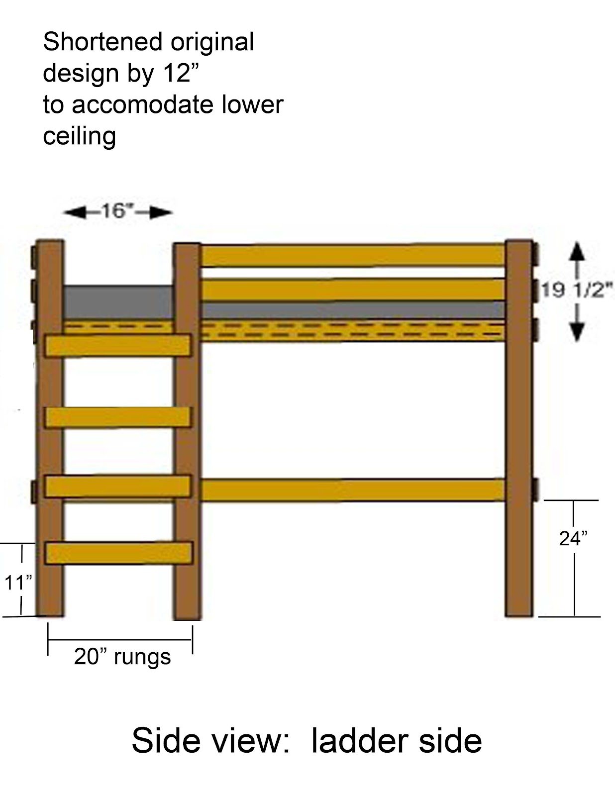 Step 7: Attach last 4x4 for ladder.