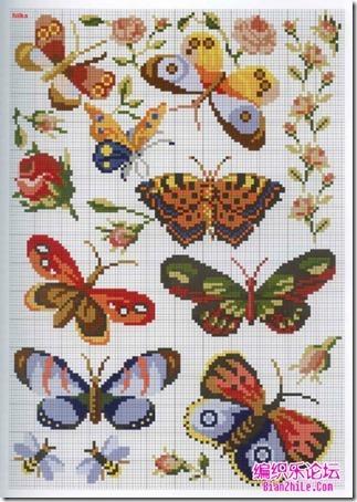 mariposas punto cruz (11)
