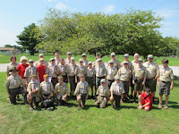 Scouts and Leaders ready to get to camp