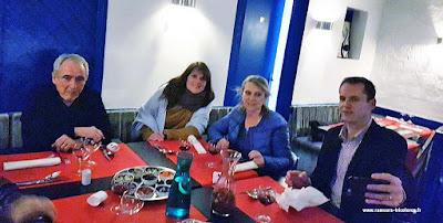 Diner après l'AG 2017 avec Daniel Forget, Anne Tollard-Nottelet, Catherine Guilleret, Bertrand Vecten.