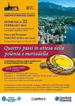 Quattro passi in attesa della polenta e mortadella 22 Febbraio Varone di Riva del Garda