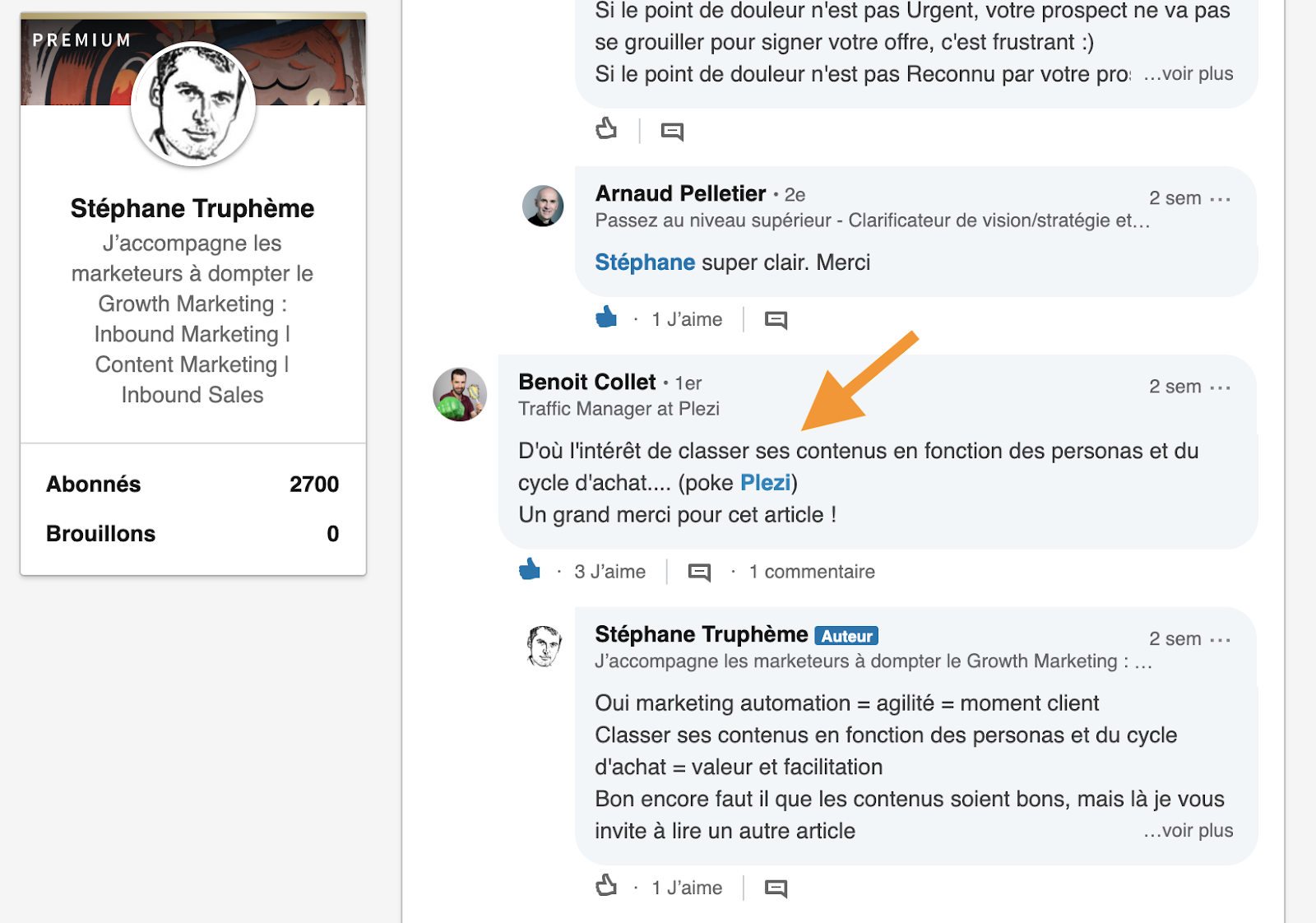 Linkedin Commentaire