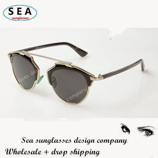 SEA The newest D CAT EYE men sunglasses women brand des