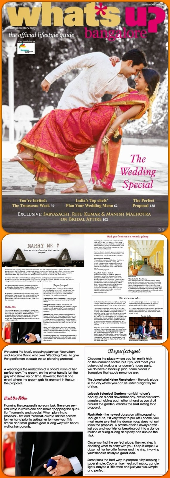 Wedding Tales in What's Up Bangalore.