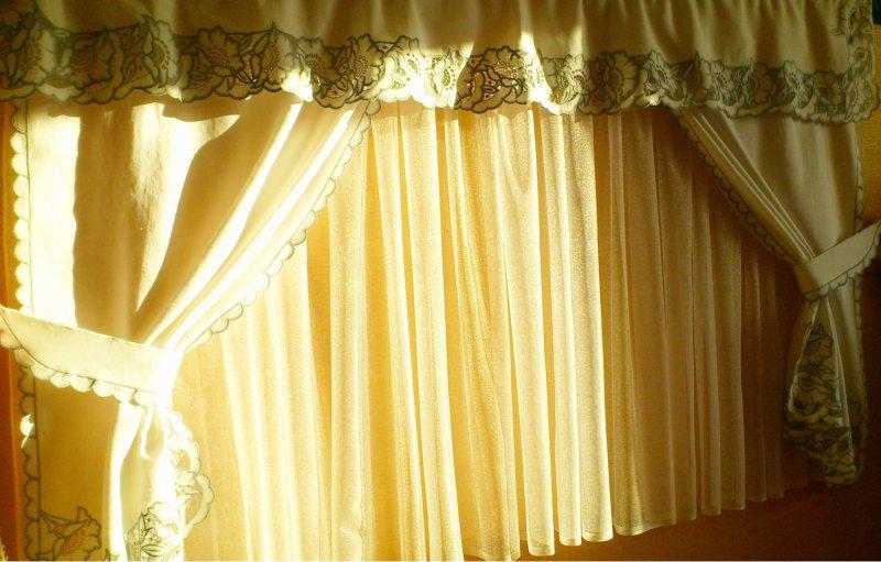 шторы с вышивкой ришелье