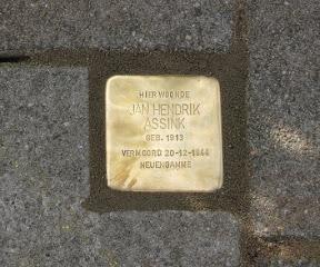 Jan Hendrik Assink - Billitonstraat 32. Stolpersteine Enschede.