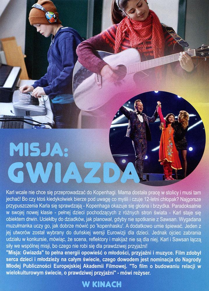 Ulotka filmu 'Misja: Gwiazda (tył)'