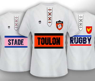 T-shirt supporters de rugby