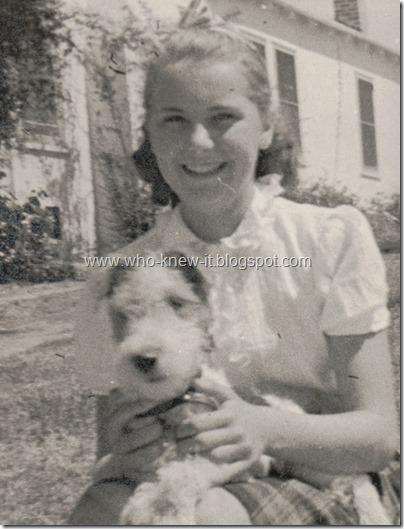 Geraldine w dog