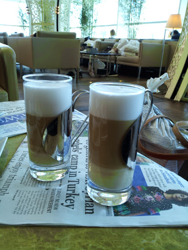Our second round of caffeine... From What's It Really Like to Fly Turkish Airlines Business Class?