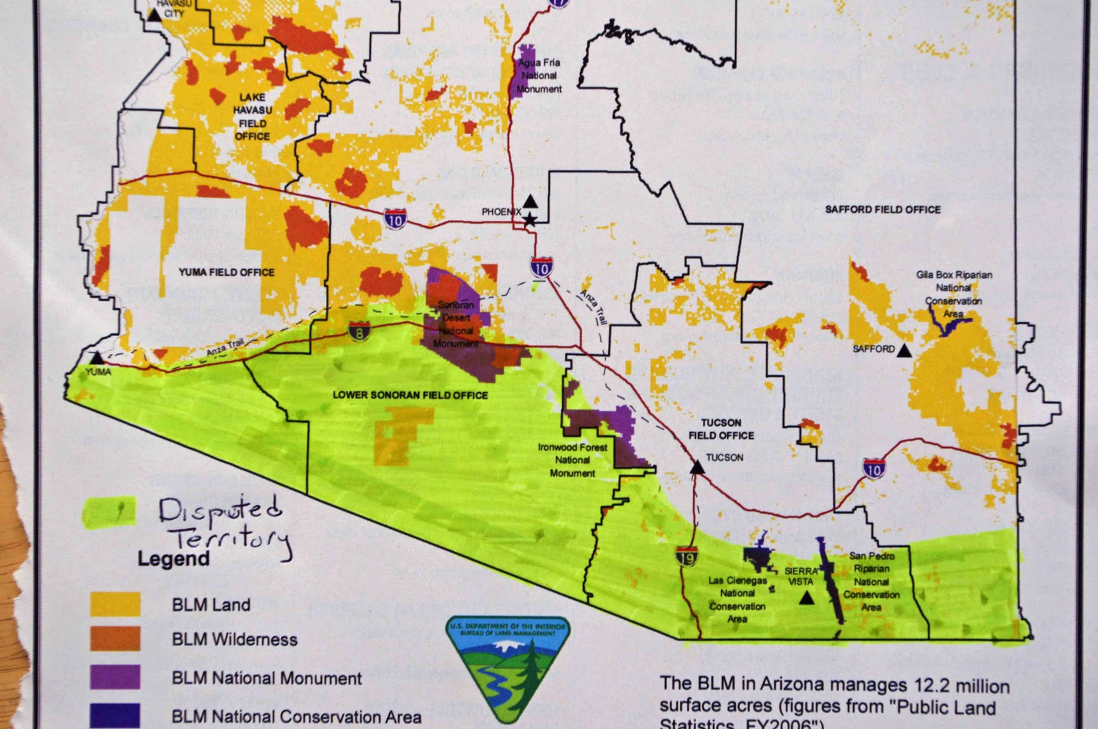 Map Of Arizona Blm Land.Traveling And Boondocking In The Disputed Territories Of Arizona