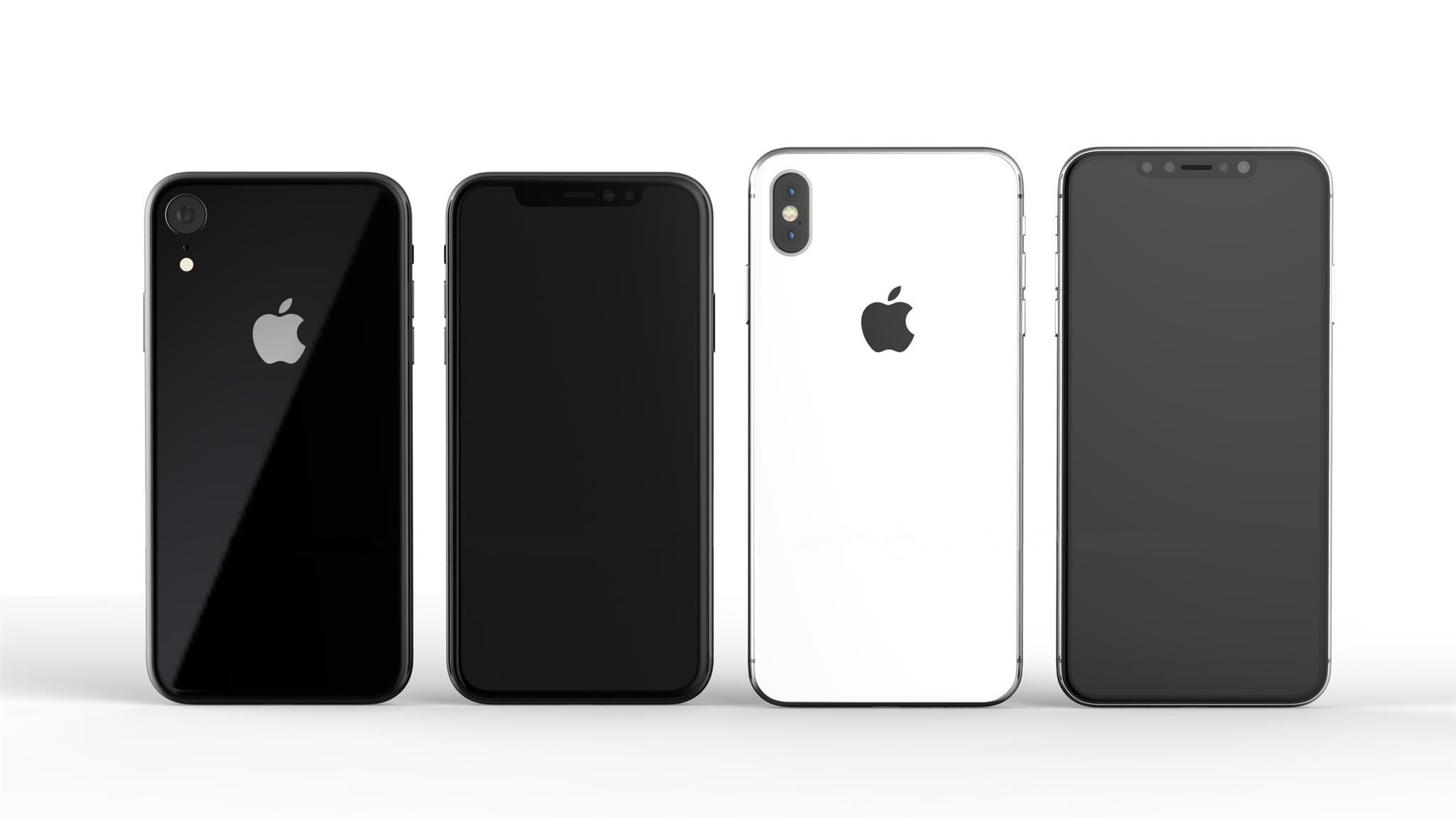 جوال iPhone X Plus و iPhone X Lite صور ثلاثية الأبعاد