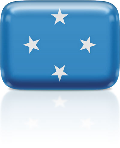 Micronesian flag clipart rectangular