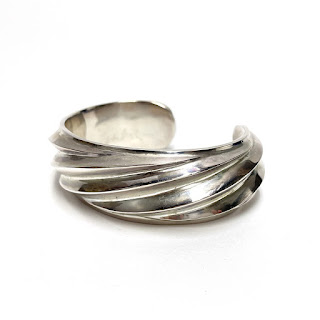 Sterling Silver Heavy Twist Cuff