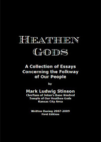 Cover of Mark Ludwig Stinson's Book Heathen Gods A Collection of Essays Ver 1