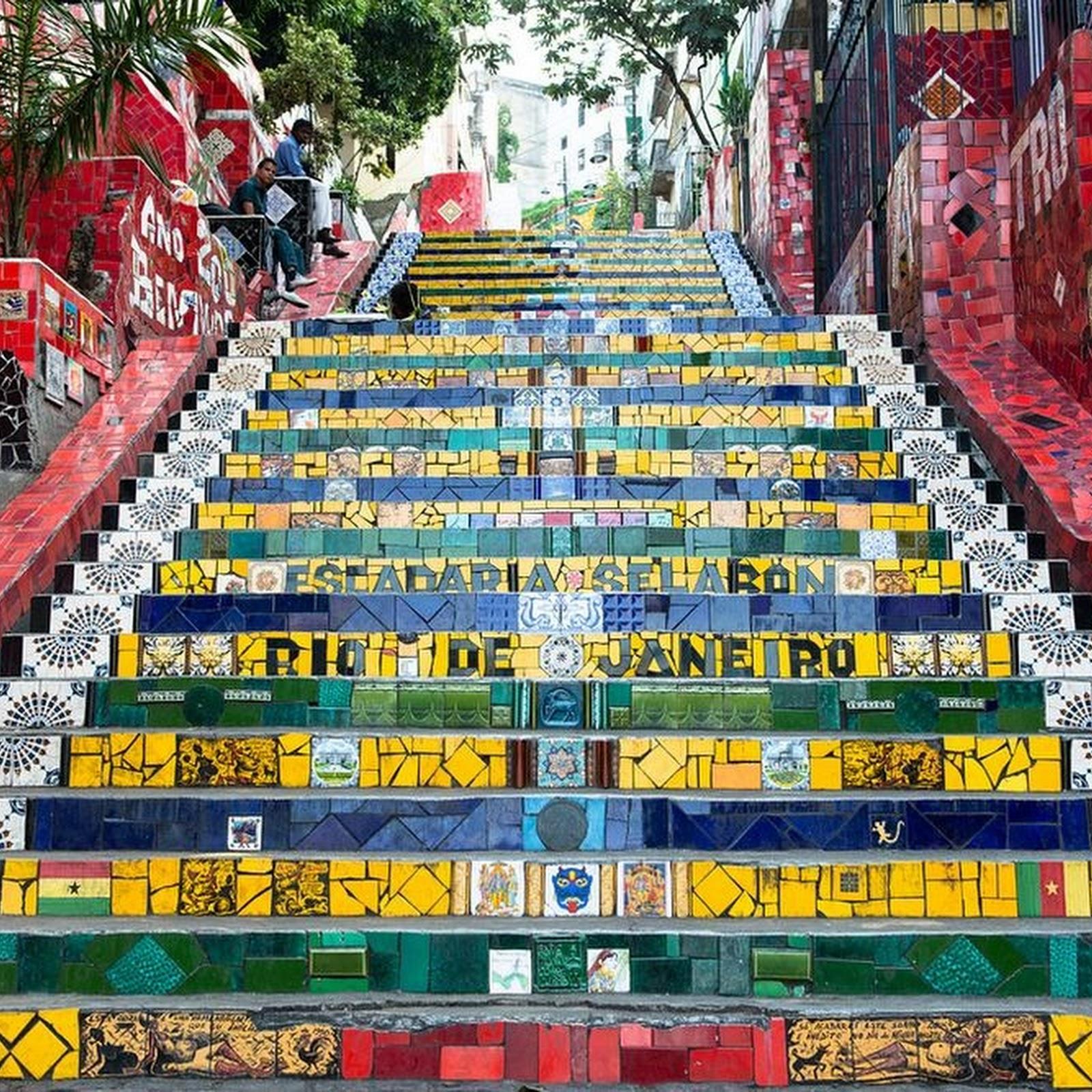 The Selaron Steps of Rio de Janeiro