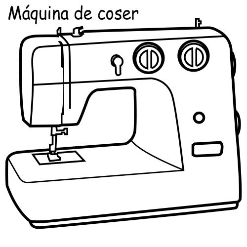 pinto dibujos m quina de coser para colorear. Black Bedroom Furniture Sets. Home Design Ideas