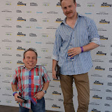WWW.ENTSIMAGES.COM -  Warwick Davis and Sam West     at Get Reading festival at Trafalgar Square, London Organised by the Evening Standard in partnership with e-reader firm NOOK July 13th 2013                                             Photo Mobis Photos/OIC 0203 174 1069