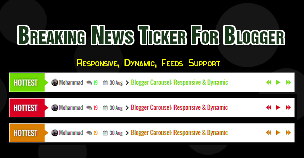 Breaking News Ticker Widget For blogger