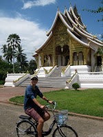 Biking around Luang Prabang