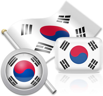 South Korean flag icons pictures collection