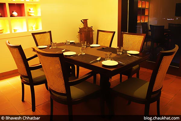 Large family seating arrangement at Savya Rasa [Koregaon Park, Pune]