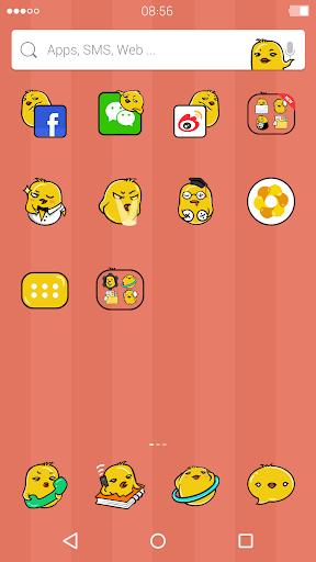 Lovely Chick:DU Launcher theme screenshot 2