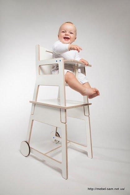Фанерный стульчик для кормления детей