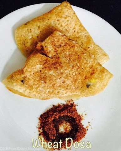 Gothumai/Wheat Dosa Recipe