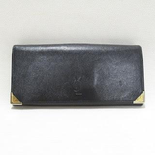 Yves Saint Laurent Black Leather Wallet