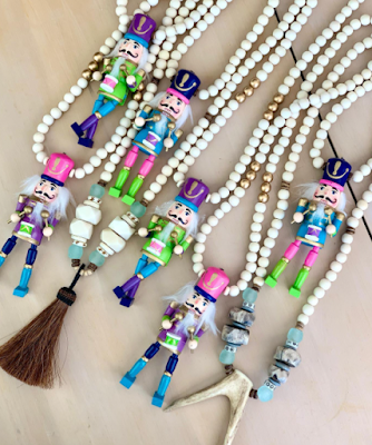 Colorful Nutcracker necklaces